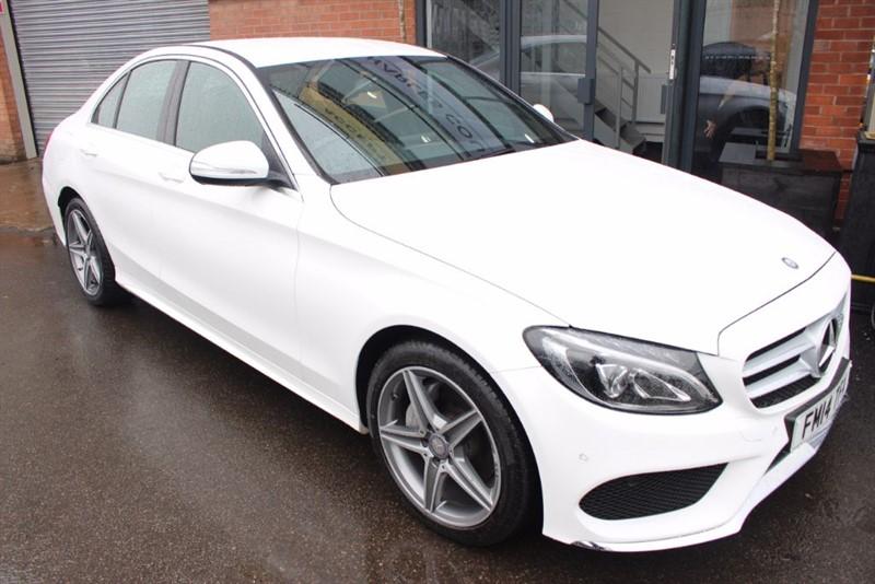 used Mercedes C220 BLUETEC AMG LINE-SAT NAV-REVERSE CAMERA in warrington-cheshire