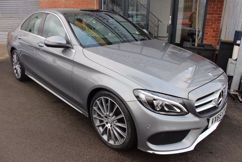 "used Mercedes C220 D AMG LINE PREMIUM PLUS-BURMESTER SOUND-19""ALLOYS-PAN ROOF in warrington-cheshire"