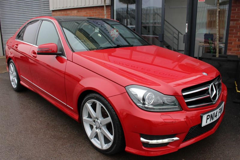 used Mercedes C220 CDI AMG SPORT EDITION PREMIUM PLUS-PAN ROOF-SAT NAV in warrington-cheshire