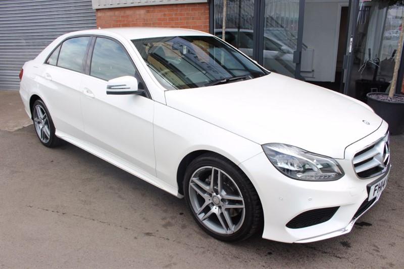 used Mercedes E220 CDI AMG SPORT-SAT NAV-DIAMOND WHITE PEARL in warrington-cheshire