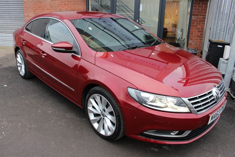used VW Passat CC GT TDI BLUEMOTION TECHNOLOGY-RED LEATHER in warrington-cheshire