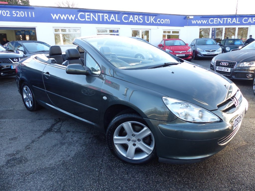 peugeot 307 2 0 coupe cabriolet in metallic green for sale leigh on sea essex central cars. Black Bedroom Furniture Sets. Home Design Ideas