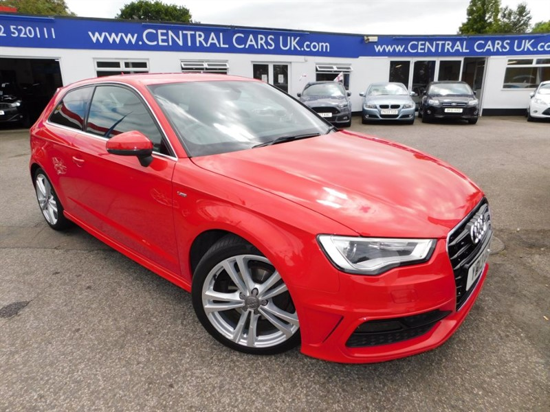 used Audi A3 1.6 TDI S Line 3 Door In Red in leigh