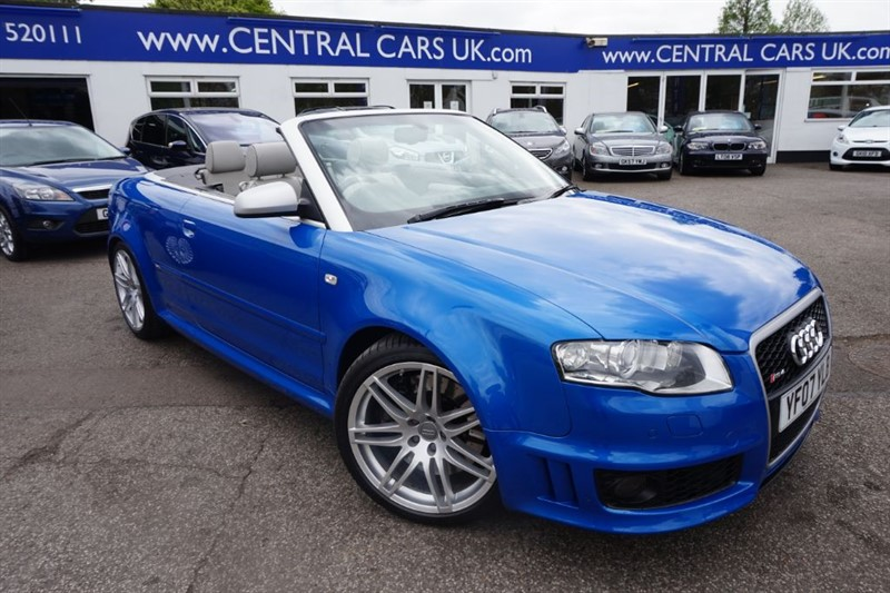 used Audi A4 4.2 RS4 QUATTRO Cabriolet In Metallic Blue in leigh