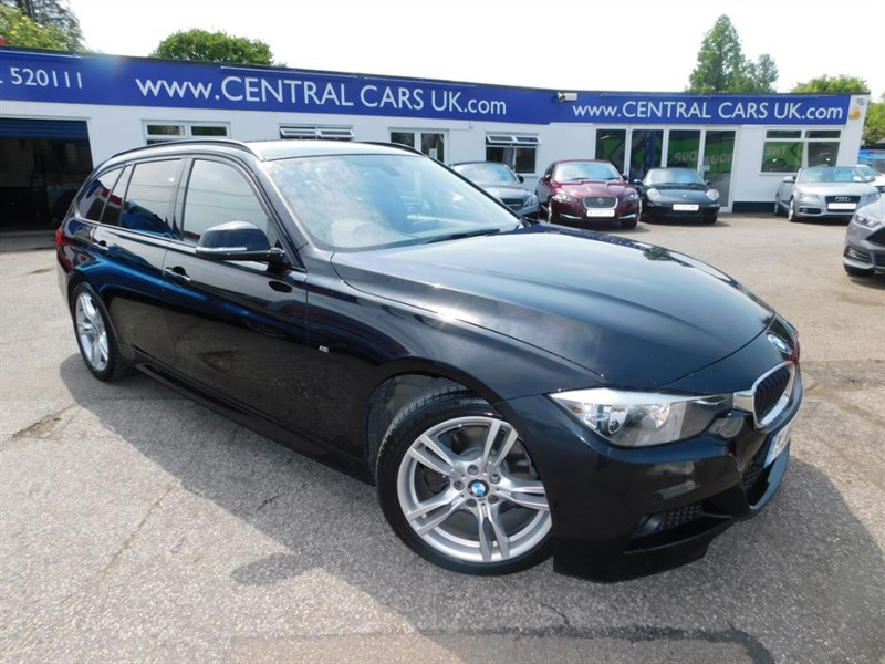used BMW 320d 2.0 M Sport Touring Automatic In Metallic Black in leigh