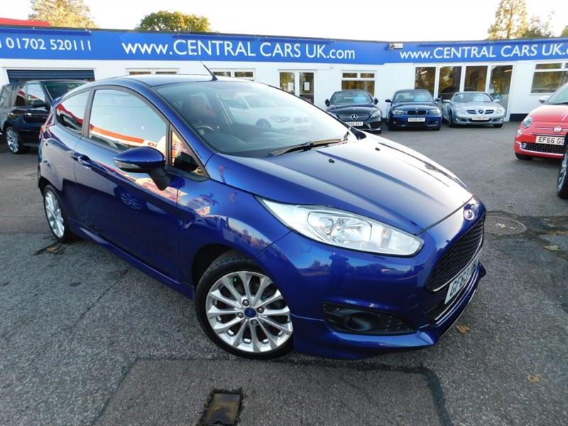used Ford Fiesta 1.0 Zetec S In Metallic Blue in leigh