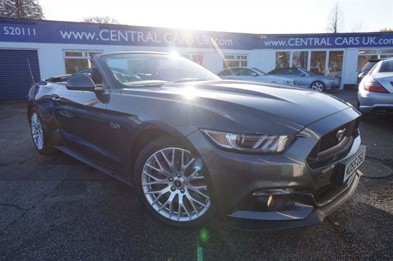 used Ford Mustang 5.0 GT Convertible In Metallic Grey in leigh