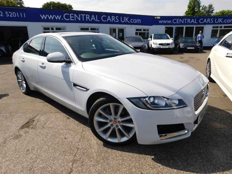 used Jaguar XF 2.0 Portfolio Automatic In White in leigh