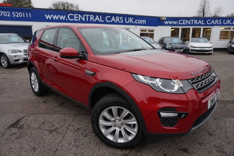 used Land Rover Discovery Sport 2.0 TD4 SE TECH In Metallic Red in leigh