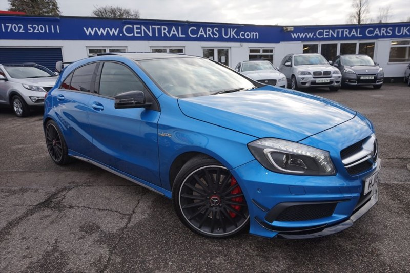 used Mercedes A45 AMG 2.0 4MATIC In Metallic South Seas Blue in leigh