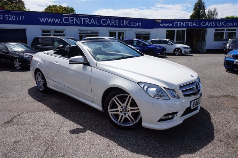 used Mercedes E350 3.5 CDI BLUEEFFICIENCY SPORT In White in leigh