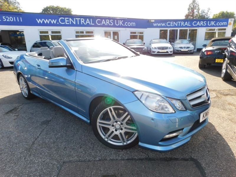 used Mercedes E350 3.0 CDI BLUEEFFICIENCY Sport Convertible In Metallic Blue in leigh