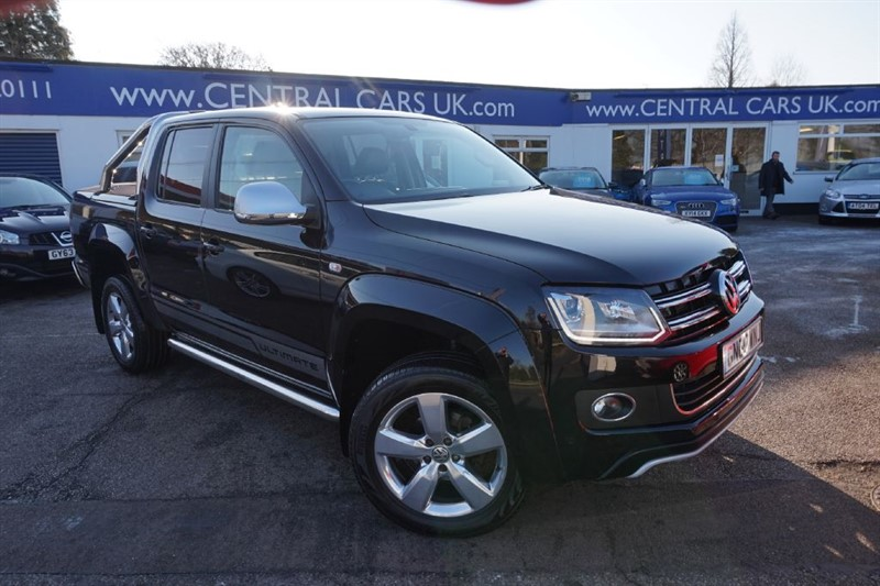 used VW Amarok 2.0 DC TDI ULTIMATE 4MOTION Automatic In Metallic Black in leigh