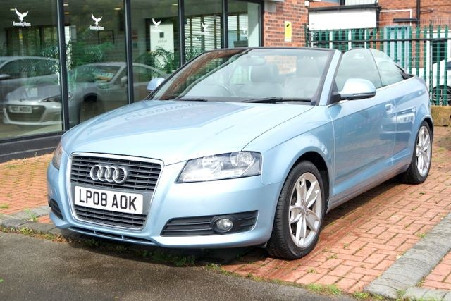 used Audi A3 TFSI SPORT CONVERTIBLE- SAT NAV- LEATHER in ashley-cheshire