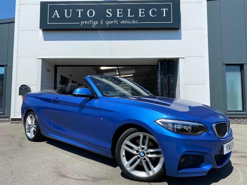 used BMW 220d 2.0D M SPORT AUTO CONVERTIBLE �30 TAX!! FMBWSH!! IMMACULATE!! in chesterfield