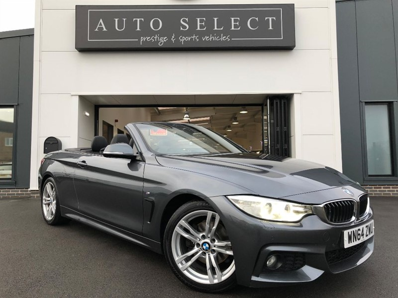 used BMW 420d 2.0d M SPORT CONVERTIBLE NAV & AIR SCARF!! in chesterfield