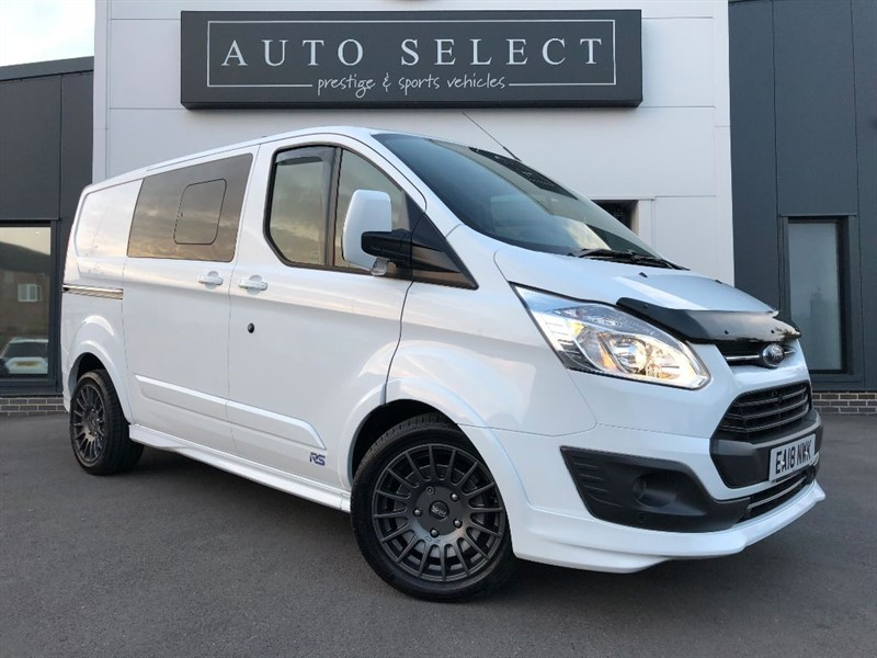 used Ford Transit Custom 290 SPORT 2.0 DCIV L1H1 DOUBLE CAB IN VAN 170PS AUTOMATIC MONSTER SPEC!! in chesterfield