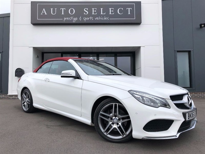 used Mercedes E350 3.0D BLUETEC AMG LINE PREMIUM CONVERTIBLE MASSIVE SPEC!! 1 OWNER!! in chesterfield