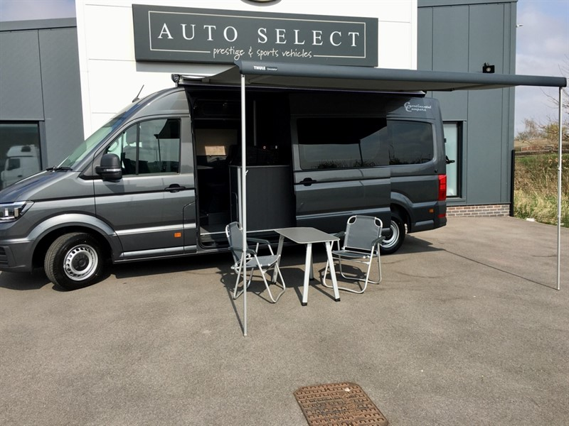 used VW  VW CRAFTER MOTORHOME CR35 LWB 177 TRENDLINE HIGH ROOF AUTO GREY CAMPER in chesterfield