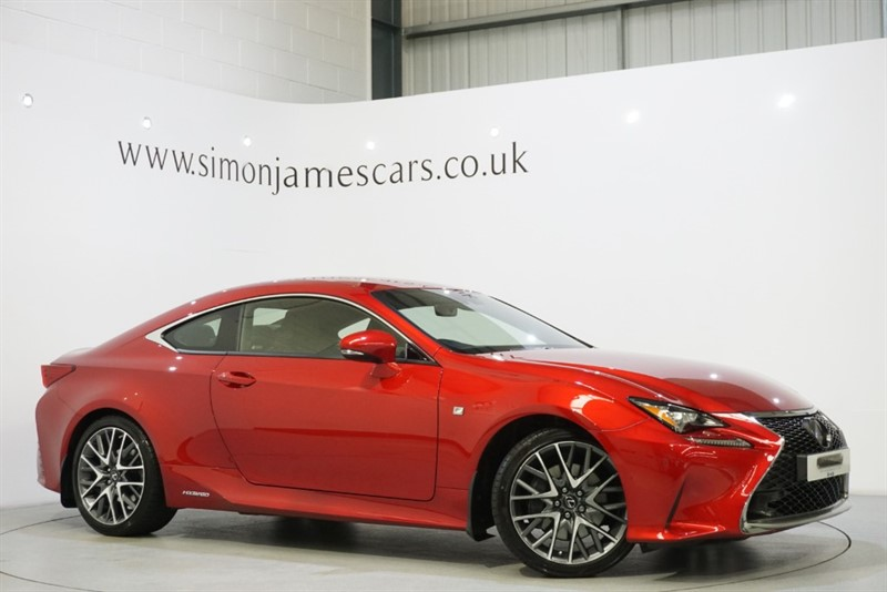 used Lexus RC 300h F SPORT in derbyshire