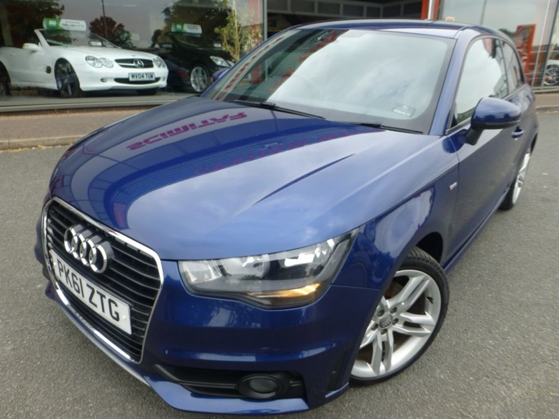used Audi A1 TDI S LINE + LOCAL LADY OWNER + AIR-CON + CRUISE CONTROL + FSH + HALF LEATH in chester