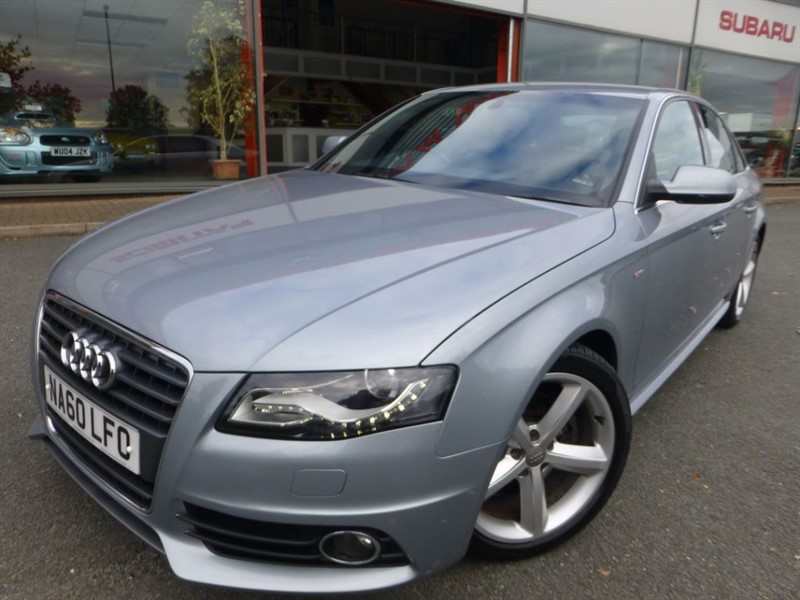 "used Audi A4 TDI S LINE + 18"" ALLOYS + FSH + HALF S-LINE LEATHER + REVERSE PARK +XENONS in chester"