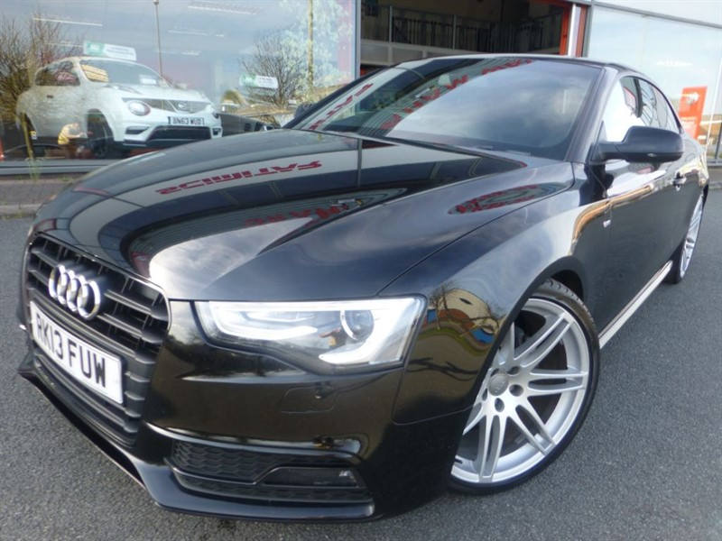 """used Audi A5 TDI S LINE BLACK EDITION + 19"""" ALLOYS + FSH + PRIVACY + LEATHER + LOCAL CAR in chester"""