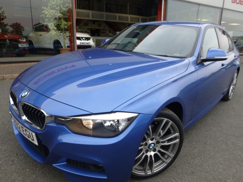 used BMW 320i XDRIVE M SPORT + 1 LOCAL LADY OWNER + FSH + SAT-NAV + FULL BLACK LEATHER + in chester