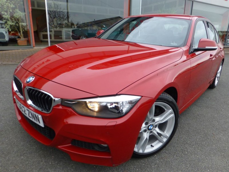 used BMW 328i M SPORT + SAT-NAV + FULL LEATHER + FBMWSH + BMW EXTENDED WARRANTY + MINT in chester