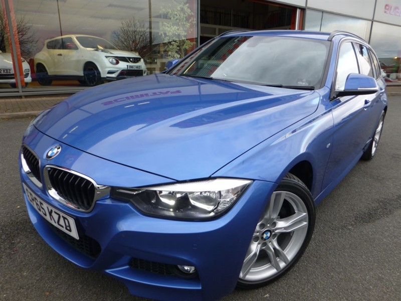used BMW 330d XDRIVE M SPORT TOURING + SAT-NAV + BLACK LEATHER + FBMWSH + PRIVACY GLASS  in chester