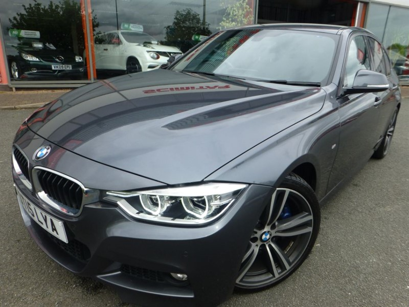 "used BMW 330d M SPORT + SAT-NAV + FBMWSH + HEATED LEATHER + 19"" ALLOYS + M SPORT KIT ++++ in chester"