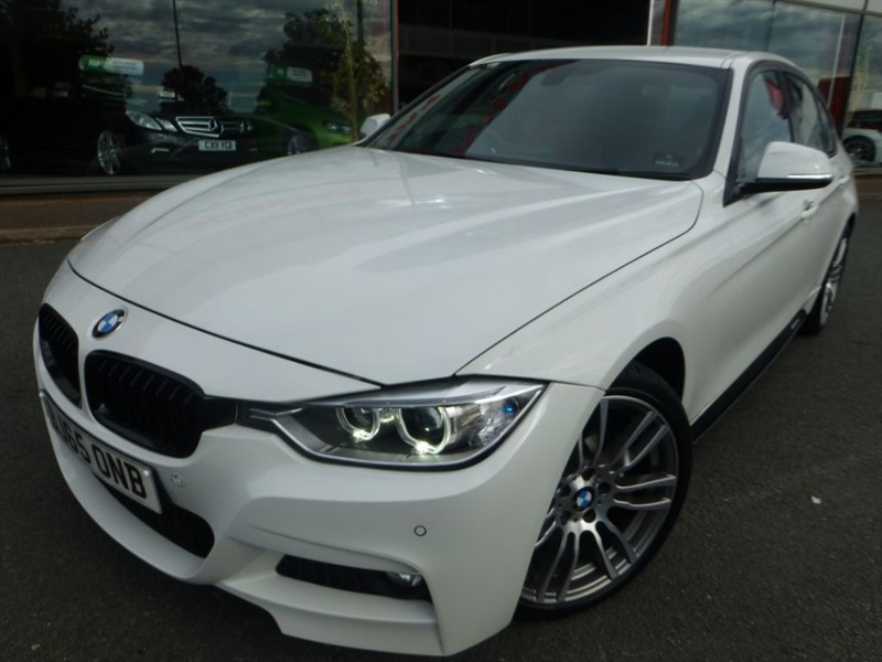 "used BMW 335d XDRIVE M SPORT + DAKOTA RED LEATHER + SAT-NAV + 18"" ALLOYS + CRUISE +  in chester"