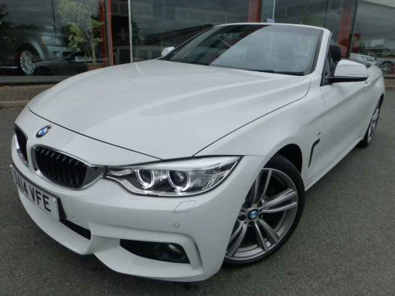 used BMW 428i M SPORT + SAT-NAV + HEATED LEATHER + 1 OWNER + FBMWSH + AS NEW CONDITION +  in chester