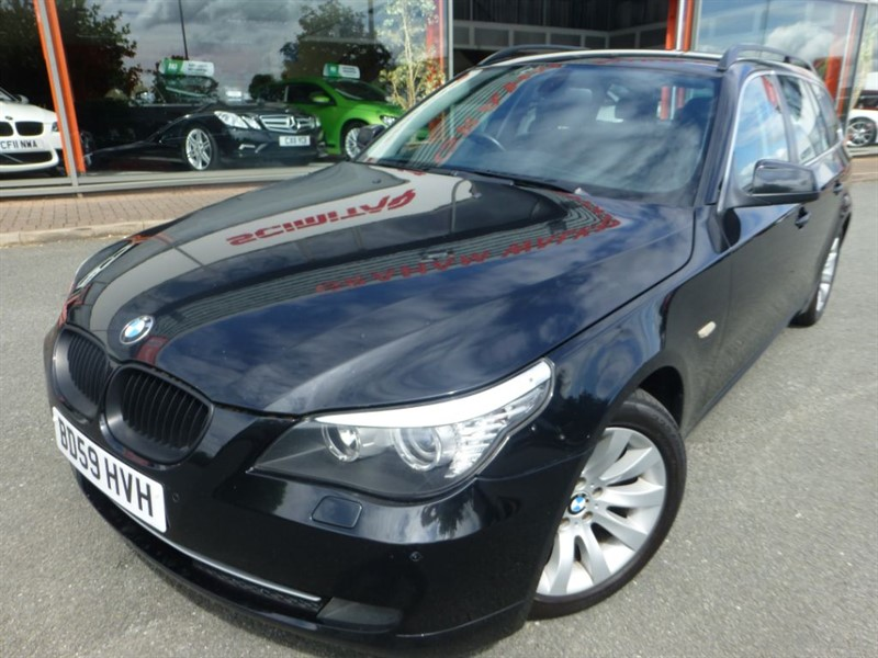 used BMW 520d SE BUSINESS EDITION TOURING + SAT-NAV + FSH + BLACK LEATHER + 3 OWNERS ++++ in chester