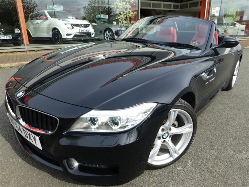 used BMW Z4 SDRIVE20I M SPORT ROADSTER + SAT-NAV + FBMWSH + RED LEATHER + LOCAL CAR in chester