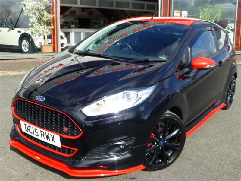 used Ford Fiesta ZETEC S BLACK EDITION + 1 LOCAL OWNER + PRIVACY GLASS + FFSH + A/C + MINT in chester