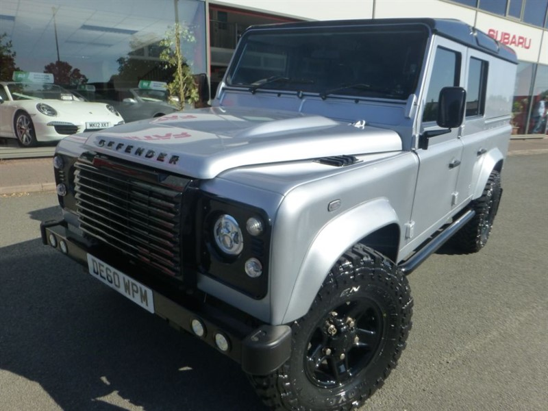 used Land Rover Defender 110 TD COUNTY UTILITY WAGON + FSH + BIG WHEELS + TOW-BAR + STUNNING CONDIT in chester