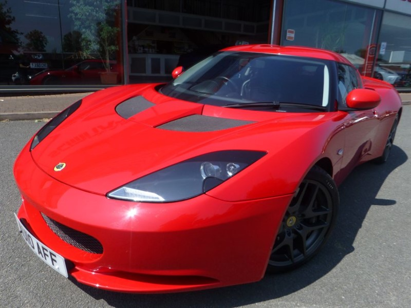 used Lotus Evora V6 4 + TECH PACK + SPORTS PACK + AIR-CON + FLSH + BLACK LEATHER + AS NEW + in chester