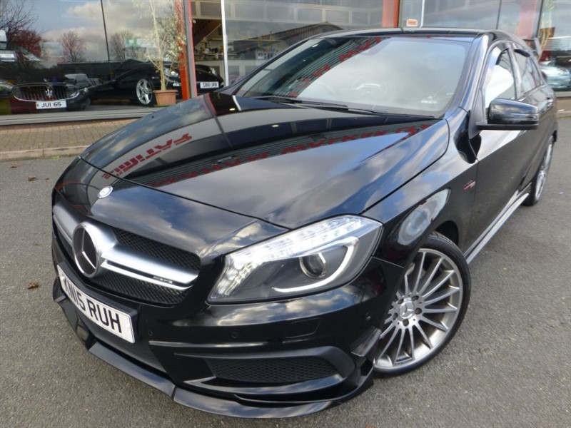 "used Mercedes A45 AMG 4MATIC + 19"" ALLOYS + LITCHFIELD 438 BHP STAGE 2 + SAT-NAV + FMSH + WOW WOW in chester"