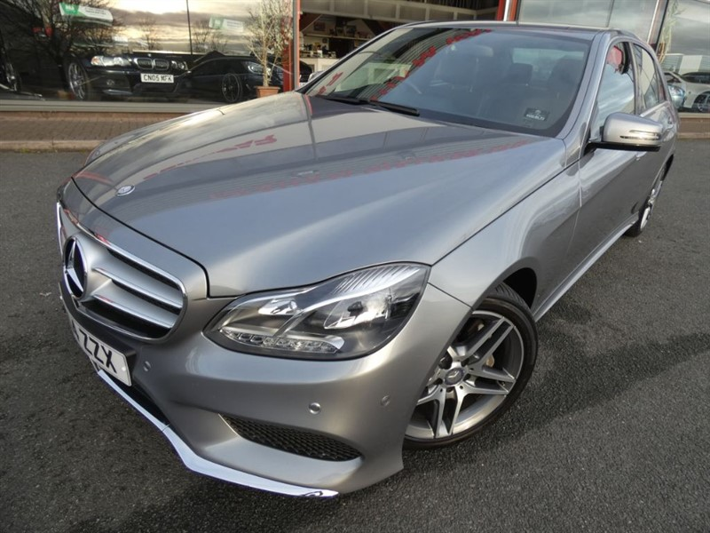 used Mercedes E350 BLUETEC AMG SPORT + FMSH + LEATHER + SAT-NAV + HEATED SEATS + LOVELY COND in chester