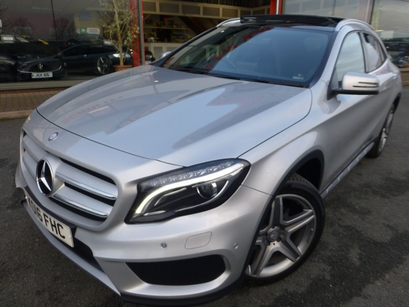 used Mercedes GL A-CLASS GLA 200 D 4MATIC AMG LINE + PAN-ROOF + 2 OWNERS + FMSH + SAT-NAV ++ in chester