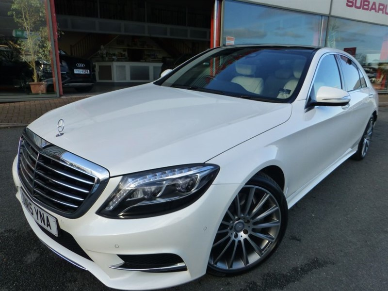 used Mercedes S350 BLUETEC L AMG LINE + 1 OWNER + FMSH + PANROOF + HUGE SPEC + BEST COLOUR COM in chester