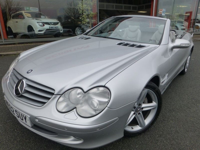 used Mercedes SL SL500 + SAT-NAV + F & R PARKING SENSORS + UPGRADE MASSAGING SEATS + BOSE ++ in chester