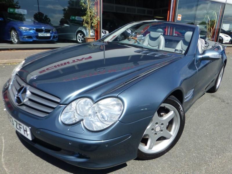 used Mercedes SL SL500 + SAT-NAV + F & R PARKING SENSORS + LOW MILES + BOSE + STUNNING +++++ in chester