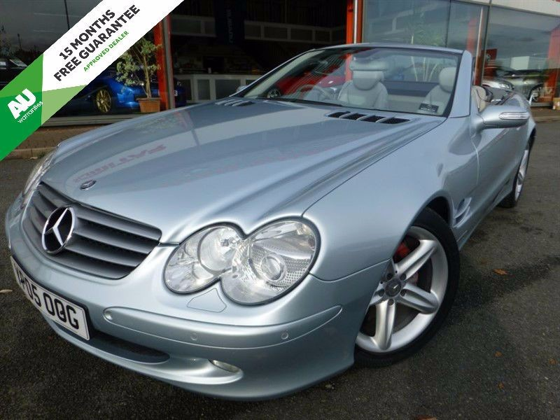 "used Mercedes SL SL350 + SAT-NAV + FSH + 18"" ALLOYS + HEATED LEATHER in chester"