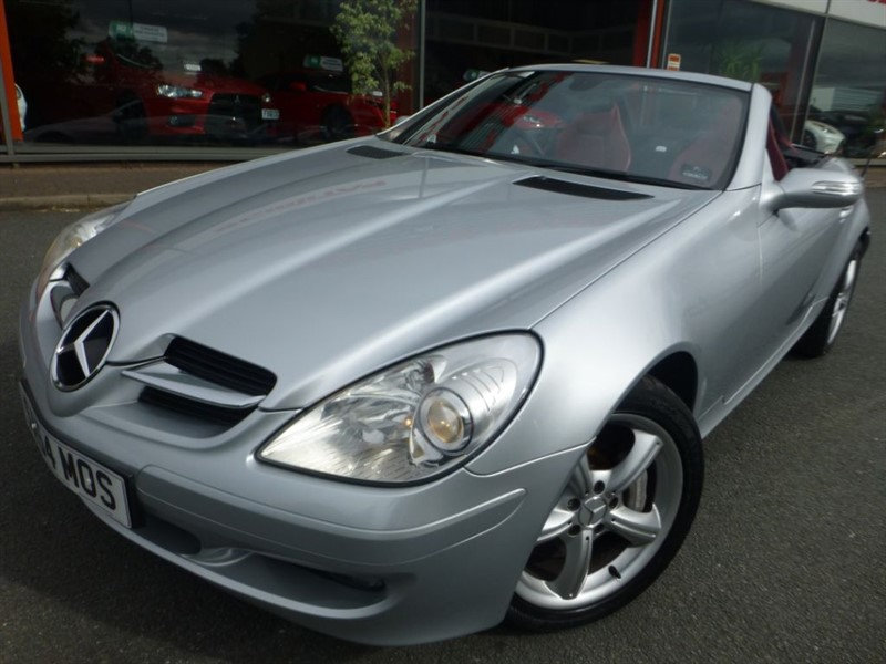 used Mercedes SLK SLK350 + LOW MILES + FSH + RED LEATHER + ELECTRIC SEATS + POWER ROOF + WOW in chester