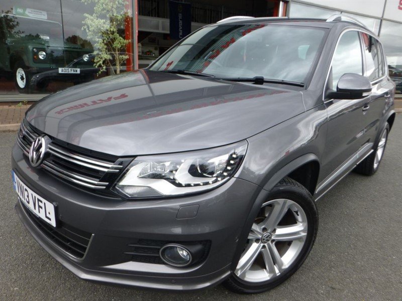 used VW Tiguan R LINE TDI BLUEMOTION TECHNOLOGY 4MOTION + FSH + F & R PARKING SENSORS +  in chester
