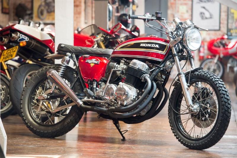 used Honda CB750 Four CUSTOM BUILT SCRAMBLER in sheffield-for-sale
