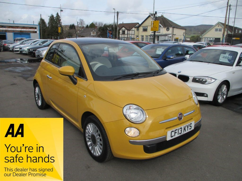 Used Yellow Fiat 500 for Sale | Glamorgan