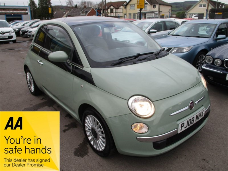 used Fiat 500 LOUNGE MULTIJET 75 in gwent